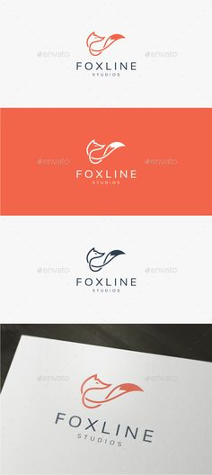 Fox Line Logo EPS Template • Only available here ➝ https://graphicriver.net/item/fox-line-logo-template/13991648?ref=pxcr