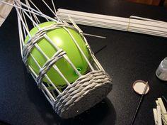 2 - Work in progress - realizzazione gabbietta con cannucce di carta