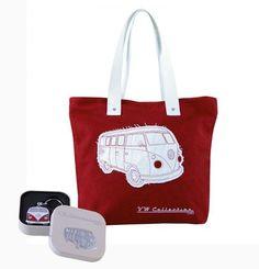 VW Red Shopper Tote Bag & Red Bus Key Ring