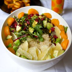 think outside the cereal bowl with salad for breakfast! No, really... #vegan