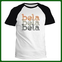 Idakoos - Bela repeat retro - Female Names - Raglan T-Shirt - Retro shirts (*Amazon Partner-Link)