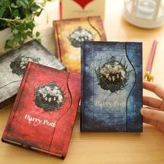 The Harry Potter Magnetic Clasp Color Pages Vintage Notebook Stationery Diary…
