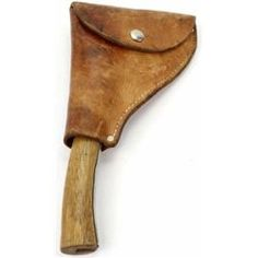 #axes Vintage Marbles Camp #axe with leather holster showing very good condition blade unground, 10 1/2' ov