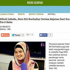 #Repost from @astrogempak -  Alahai comelnya @ctdk ni tak pernah tak lawa okay... Tapi harini Dato' Siti kena buli dengan JoHaRa lah. Tapi sebab kena buli Dato' Siti dapat kejutan dari @era_fm dan #RAKU tau. Nak tahu apa layari www.astrogempak.com.my  #datositi #JoHaRa #ERAFM #Regrann