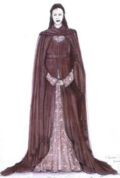 Reference: Concept of Arwen's Rose Dress Project: Noldorin Elf from Rivendell dress (complete) Changes; Longer sleeves, Lower neckline. Royal/cobalt blue. Now I think about it, I need the cloak!