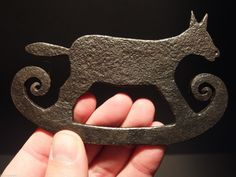 RARE Antique Wrought Iron Folk Art Steel Flint Striker Strike Light Fire Fox | eBay sold 140.00. ...~♥~