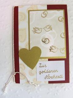 Grußkarte zur goldenen Hochzeit