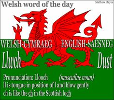 #Welsh Word of the Day: Llwch/ #Dust