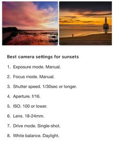 Photography Settings, Dslr Photography Tips, Photography Lessons, Sunset Photography, Photography Tutorials, Digital Photography, Sport Photography, Landscape Photography, Beginner Photography