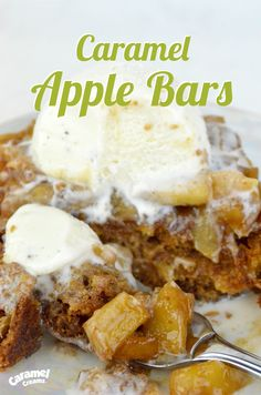 Recipe: Caramel Apple Cookie Bars with Warm Apple Topping