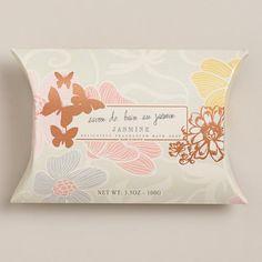 One of my favorite discoveries at WorldMarket.com: Jasmin Pillow Box Soap #MomInParadise