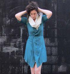 ORGANIC Belted Short Cardigan - ( light hemp and organic cotton knit) - organic…