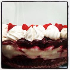 Triffle with strawberry