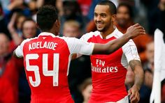 Theo Walcott & Jeff Reine-Adelaide #ArsenalFC #EmiratesCup2015 #AFC #Gunners