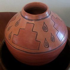 Cherokee arts pottery by Victoria Mitchell (sold)
