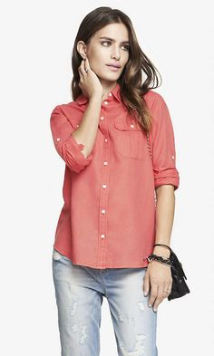 LINEN-COTTON ORIGINAL FIT SHIRT | Express