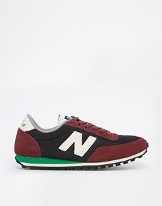 Enlarge New Balance 410 Suede & Mesh Burgundy Sneakers