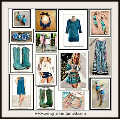 LOVE TEAL?  Visit COWGIRLS UNTAMED and type TEAL in the search bar. You'll be happy you did. #teal #cowgirlboots #cross #leather #jewelry #boutique #beautiful #fashion #boho #bohemian #gypsy #cowgirl #antiquebronze #silver #turquoise #feather #dress #minidress #lace #Umgee #palazzo #pants #kimono #coverup