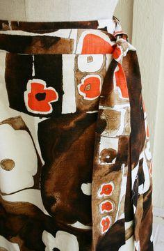 It's A Wrap   Mod Op Art  Wrap Skirt  Circa 196070s by CallMeChula, $22.00