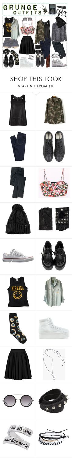 """Grunge Outfits."" by the-amazing-tip-chickas ❤ liked on Polyvore featuring AllSaints, American Eagle Outfitters, Converse, Woolrich, Acne Studios, Friis & Company, Levi's, Lauren Ralph Lauren, Jeffrey Campbell and Reiss"