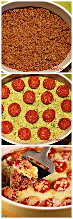 Grain free Pizza Pie Layer Casserole| Primal, low carb, with paleo option.