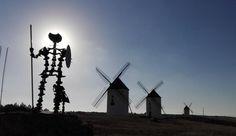 """¿Qué serían los paisajes manchegos sin estos """"gigantes"""" y la huella de Don Quijote?(Mota del Cuervo, #Cuenca)"""