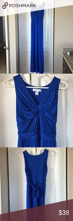 Maternity Maxi Dress Beautiful royal blue maternity maxi dress by Motherhood Maternity. Worn once for a few hours to attend a local wedding.  Very comfortable and roomy for the expanding belly. Motherhood Maternity Dresses Maxi