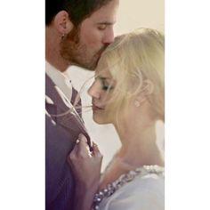 Colin O'Donoghue -Killian Jones - Captain Hook - Jennifer Morrison - Emma Swan on Once Upon A Time Wedding Kiss, Wedding Shoot, Wedding Couples, Wedding Band, Wedding Album, Wedding Bells, Wedding Engagement, Dream Wedding, Wedding Ideas