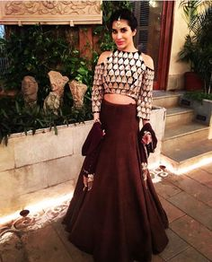 Manish Malhotra # cold shoulder lehenga # Sophie # Indian wear