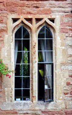 Fenêtres gothiques, Vicars' Close, Wells, Somerset