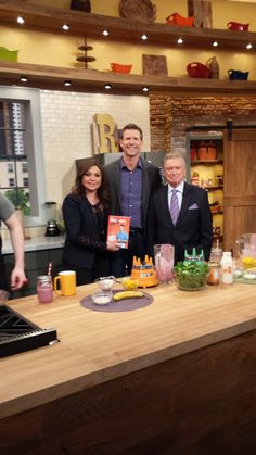 Dr. Travis visiting @Rachael Ray Show with Regis Philbin  #smoothies
