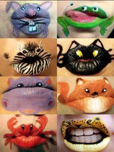 Lips art sur le thème des animaux