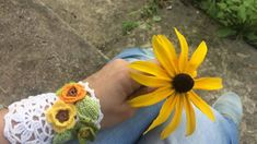 Unique floral bracelet for women, boho wide wristband, hand crocheted bridesmaid gift, beach wedding corsage, gift ideas for mum, doily cuff Unique Crochet, Hand Crochet, Crochet Lace, Bridesmaid Bracelet, Bridesmaid Gifts, Unique Flowers, Colorful Flowers, Corsage Wedding, Gift Wedding