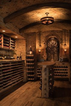 This new collection of interior designs will show you 20 Absolutely Glorious Mediterranean Wine Cellar Designs You'll Go Crazy For. Wine Cellar Basement, Wine Cellar Design, Wine Cellar Modern, Wine Bar Design, Home Wine Cellars, Wine House, Root Cellar, Italian Wine, Wine Storage