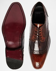Enlarge ASOS Brogue Shoes in Leather