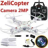 ZeliCopters RC Quadcopter with 2MP Video Camera,4 Ch 2.4ghz 6-gyro, Remote Control Drone Equipted with Headless System Drones Quadcopters - http://dronesheaven.ianjweboffers.com/zelicopters-rc-quadcopter-with-2mp-video-camera4-ch-2-4ghz-6-gyro-remote-control-drone-equipted-with-headless-system-drones-quadcopters/