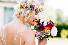Bohemian wedding in Munich - Blumenkranz Wedding Bells, Boho Wedding, Dream Wedding, Floral Wedding, Wedding Ideas, Hippie Cake, Wedding Bouquets, Wedding Flowers, Girl Blog