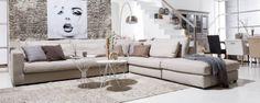 #hoekbank Ravenia - #landelijk #romantisch #beige - #Goossens wonen & slapen