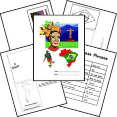 Free Brazil Country Lapbook from Homeschool Share Teaching Geography, World Geography, Teaching Kids, South America Continent, Brazil Country, Social Studies Games, My Father's World, World Thinking Day, Home Learning