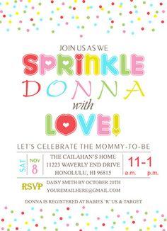 Free Printable Baby Sprinkle Invitations Baby Sprinkle
