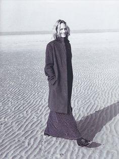 Harpers Bazaar US 1996, Scotland shoot. Photo: Patrick Demarchelier, Model: Amber Valetta. neilmoodie.com