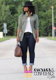 Weekend Wear: Old Navy Curvy Skinny Jeans - Curves and Confidence Curvy Outfits, Mode Outfits, Chic Outfits, Plus Size Outfits, Fall Outfits, Fashion Outfits, Womens Fashion, Fashion 2018, Dressy Outfits