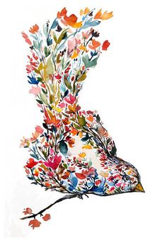 Flower Bird by Kiana Mosley