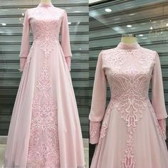 pink long sleeve prom Customized service and Rush order are available. There is our email address cutedressy ,you can send email Muslimah Wedding Dress, Wedding Dresses, Prom Dresses Long With Sleeves, Muslim Fashion, Hijab Fashion, The Dress, Party Dress, Fashion Dresses, Pink Fashion