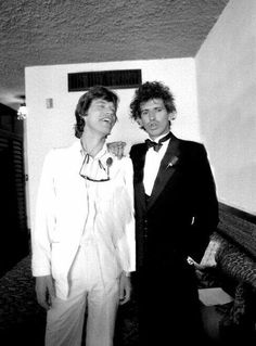 Mick&Keith. Probably Keith's wedding.