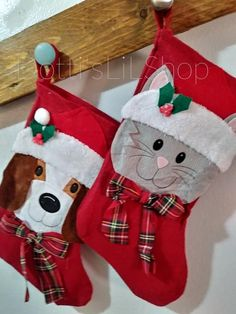 Family Pet Christmas Stocking   Cat Stocking   Dog Stocking 277bb5d280e
