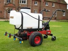Paddock sprayer mounted on power barrow. ATV quad bike sprayers can be mounted onto an ATV or towed behind the quad bike and come with a spot sprayer. They Spray pesticides, herbicides and fungicides. For more info: http://www.fresh-group.com/sprayer-attachments.html