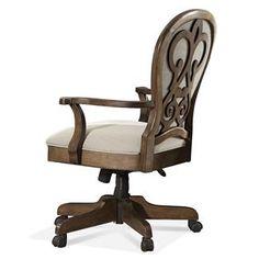 Belmeade Scroll Back Upholstered Desk Chair I Riverside Furniture