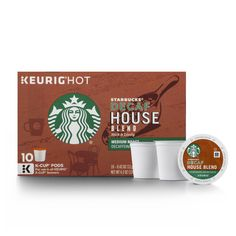 Starbucks Decaf House Blend K-Cup for Keurig Brewers, 10 Count