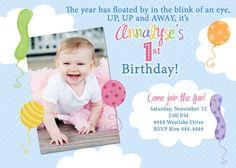 Birthday Balloons 1st Birthday Party by ShutterbugSentiments, $18.00
